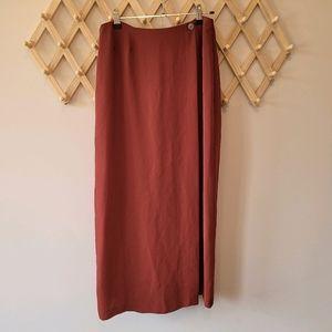 WHISTLES Rust Boho Midi Skirt (s14) Tribal Red